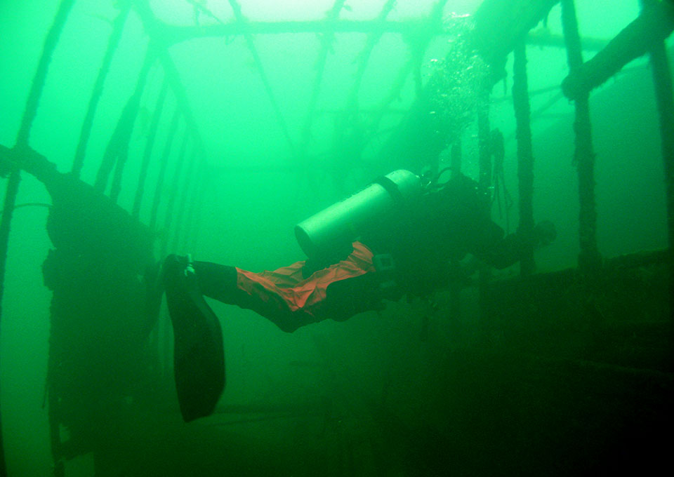 wreck diving in Montenegro -wreck Skenderbeg