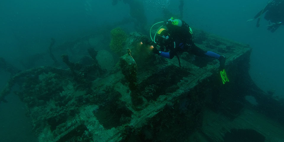 montenegro diving - dive site wreck tihany