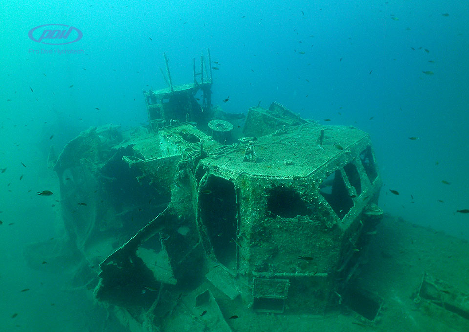 Montenegro diving-wreck Patrolac